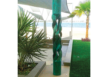 A customised sculpture for a private beach villa in Bahrain.