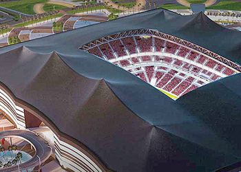 The Al Bayt stadium in Al Khor.