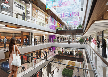 The shopping mall ... high quality finishes.