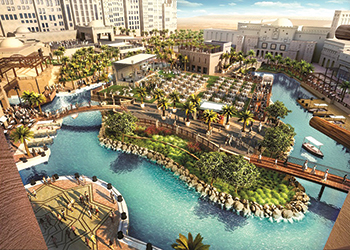 Madinat Jumeirah's Fort Island expansion ... set for completion in October.