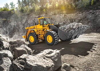 The L350F wheel loader ... suited for quarries.