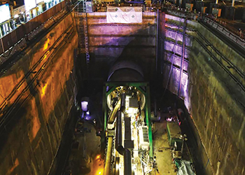 Launch of tunnelling works on the 41.2-km Riyadh Metro line.