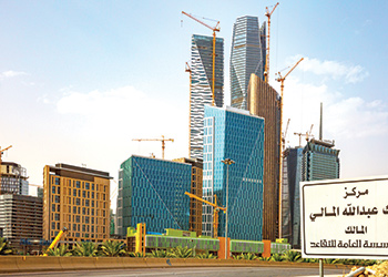 Mega developments such as the King Abdullah Financial City have been fuelling growth in the construction sector.