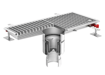 A sample of ACO's new stainless steel product.