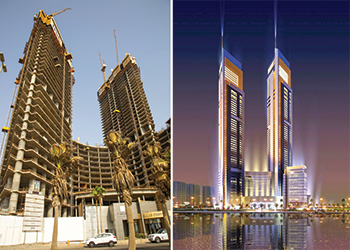 Lamar Towers ... facade works set to commence. RIGHT: An artist's impression.