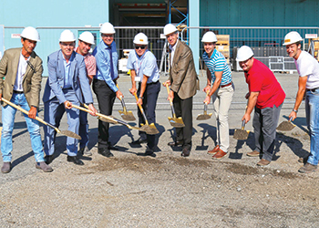 Groundbreaking ... for the Lisec service and training centre.