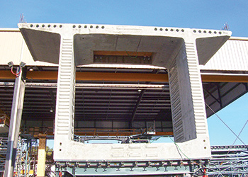 Using precast concrete facilitates the construction process.
