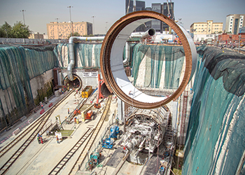 Doha Metro tunnelling work ... major milestone.
