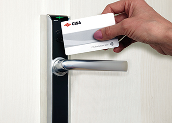 The Cisa contactless lock.
