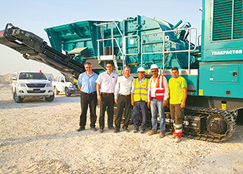 Delivery of the new Trakpactor 320 to Al Mohsen, Qatar.
