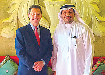 Chase Bean, vice-president, Tnemec, and Al Bakawi (right).