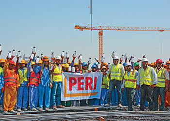 Contractor Sustainable Builders teaming up with Peri for its 'beat the heat' campaign.
