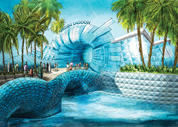 Crystal Lagoon water theme park ... full of fun.