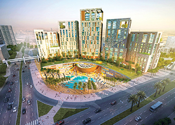 An artist's impression of the Union Oasis project.