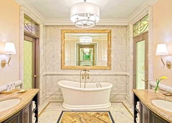 St Regis Dubai ... the rooms have exquisite marble bathrooms.