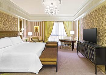 St Regis Dubai features 182 guest rooms and 52 suites.