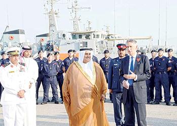 Shaikh Khalid and Hammond at the groundbreaking ceremony.