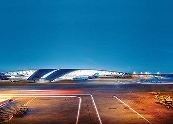 An artist's perspective of the new airport terminal ... will set an environmental benchmark.