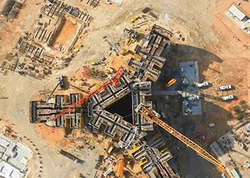 A bird's eye view ... the Kingdom Tower's progress, as seen in this April 2015 file picture.