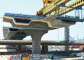 Al Jahra Road ... the construction method used for the elevated structures is precast, post-tensioned segmental bridge.