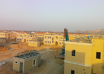 Bayer Pearl's foam insulation system used on the roofs of the Ain Al Fayda project.
