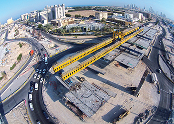 Al Jahra Road ... the precast yard covers a total surface of 150,000 sq m.