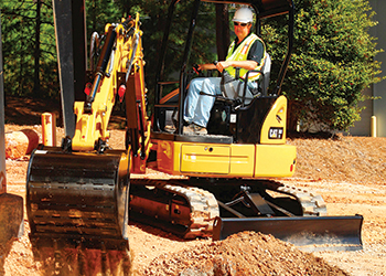 The new Cat 303E CR mini hydraulic excavator.