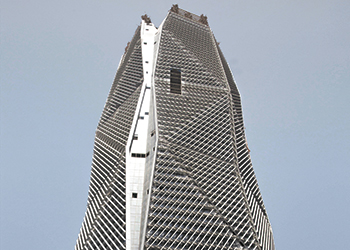 CMA Tower ... building enclosure system protects against soaring temperatures and harsh dust storms.