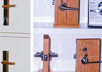 Cisa (left) and Schlage locks ... quality products.