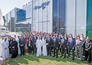 Daimler officials and staff at the launch of the new centre.