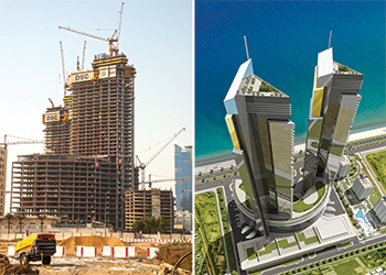 Lamar Tower ... high-profile development currently under way in Jeddah. RIGHT: An artist's perspective of the project.