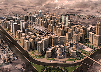 The $14.66-billion Dar Al Hijrah ... will occupy a 1.6-million-sq-m plot and have 100 towers.