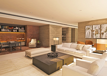 Presidential suite ... The guest rooms have been envisioned as a minimalistic seaside sanctuary dressed in sandy tones.