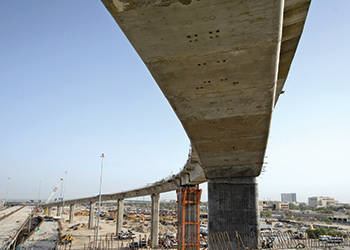 Mega project ... involves the construction of 17.7 km of segmental viaducts.