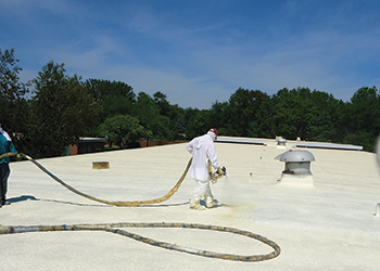 SealTech sprayed PU foam roofing ... economical and environment-friendly.