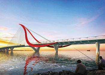 The fourth crossing ... an artist's impression.