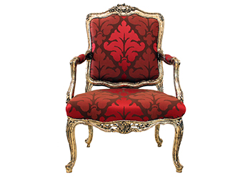 Royal Arms chair ... distinctive ambiance.