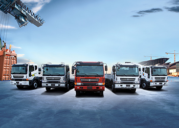 The Daewoo trucks range.