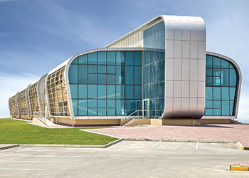 The Youth Hostel and Bahrain Athletics Association's administration building ... at Shaikh Isa Sport City.