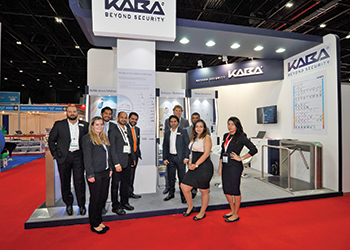 dorma+kaba teams at The Big 5 stand.