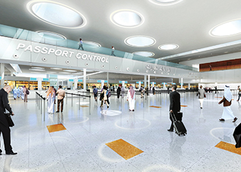 Artist's impressions of the terminal.