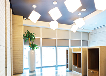 Market leader ... acoustic ceilings and window coverings from Hunter Douglas.