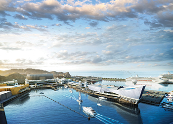 The Mina Qaboos Waterfront project ... an artist's impression.