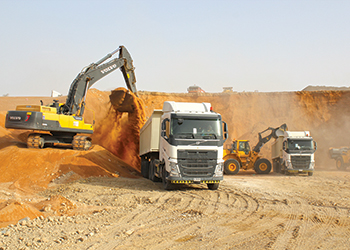 Volvo machinery ... key role in runway project.