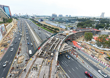 Wafi Interchange to open in April.