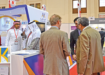AbdulKarim Holding's stand at the Gulf Industry Fair this year.