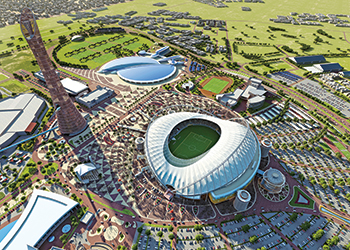 An artist's impression of Khalifa International Stadium.