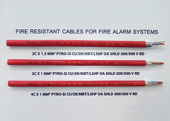 MESC's Pyro SI cables ... various core types.