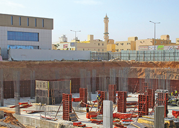 Construction of Alfarabi Dental College under way ... Paschal's Modular formwork helps reduce costs and improve the quality of concrete construction.