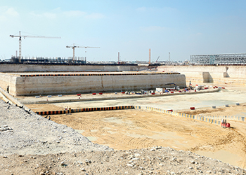 Qatar Foundation Stadium ... enabling works completed.
